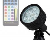 18W Color Changing RGB LED Landscape Spotlight (Remote Sold Separately)