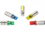194 LED Bulb - 13 SMD LED Wedge Base Tower: All Available Colors- Green, Blue, White, Amber & Red