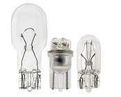 194 LED Bulb - 6 LED Wedge Base: Profile View With Size Comparison To 194 & 921 Stock Bulbs