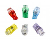 194 LED Bulb - 1 LED - Miniature Wedge Retrofit: All Colors Available- Red, Green, Blue, Amber, Cool White, UV (Blacklight)