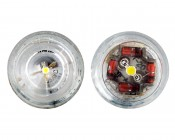194 LED Bulb - 1 LED - Miniature Wedge Retrofit: Front View 120 Degrees (Left) & 90 Degrees (Right)