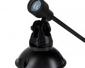 1W LED Landscape Spotlight - White: Shown with Mounting Base (sold separately)