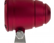 "2"" Round 10 Watt LED Mini Auxiliary Work Light: Red Finish, Profile View"