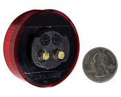 M5 series 2in Round LED Marker Lamp: Back View With Size Comparison