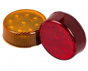 M5 series 2in Round LED Marker Lamp: Available In Red & Amber