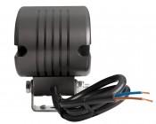 "2"" Square 10 Watt LED Mini Auxiliary Work Light : Back View"