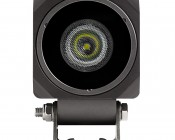 """2"""" Square 10 Watt LED Mini Auxiliary Work Light: Front View"""