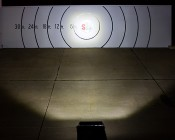 """20"""" Off Road LED Light Bar - 100W: Beam Pattern On Target From 30 Feet Away"""