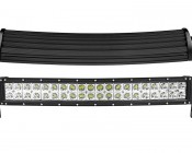 """20"""" Off Road Curved LED Light Bar: Front & Profile View"""