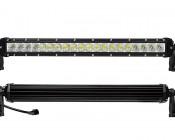 "20"" Off Road LED Light Bar - 100W: Front & Back Views"