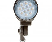 20 Watt Knuckle-Mount LED Flood Light - Bullet Style: Front View