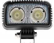 """20W Mini-Aux 4"""" Dual Row LED Off Road Work Light - CREE: Front View"""