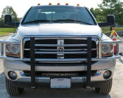 "21"" Camo Off Road LED Light Bar - 90W: Shown Installed On Dodge Ram 3500 With Mounting Brackets (Sold Separately)."