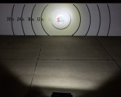 "23"" Heavy Duty Off Road LED Light with Multi Beam Technology - 144W: On Showing Beam Pattern On Target From 50 Feet"