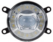 """3-1/2"""" LED Projector Fog Lights Conversion Kit w/ Halo Daytime Running Lights: Front View"""