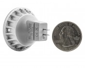 3 High Power LED MR11 Bulb: Back View With Size Comparison