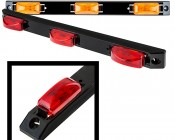 MB series 3 Lamp Truck/Trailer ID Light Bar: Available In Red & Amber
