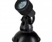 3 Watt LED Landscape Spot Light: Shown with Mounting Base (sold separately)