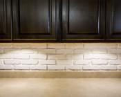 3 Watt LED Puck Light Fixture - Warm White: Installed In Kitchen Cabinets For Task Lighting