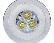 3 Watt LED Recessed Light Fixture - CREE XPE: Face View