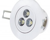 3 Watt LED Recessed Light Fixture - Aimable and Dimmable