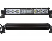 """30"""" Heavy Duty Off Road Amber LED Light Bar - 90W: Front & Back Views"""
