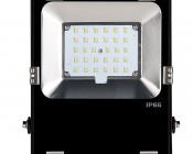 30 Watt High Power LED Flood Light Fixture: Front View