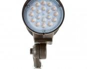 30 Watt Knuckle-Mount LED Flood Light - Bullet Style: Front View