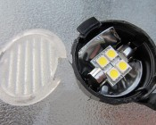 4 SMD LED Festoon Installed as a Puddle Light