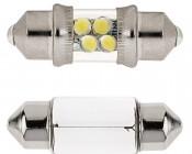 DE3175 LED Bulb - 4 LED Festoon - 30mm: Front View