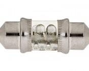 DE3175 LED Bulb - 4 LED Festoon - 30mm: Profile View
