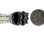 "3156 LED Bulb - 28 SMD LED Tower - Wedge Retrofit"" Profile View: Back View"