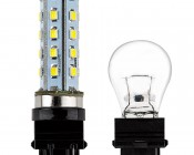 "3156 LED Bulb - 28 SMD LED Tower - Wedge Retrofit"" Profile View"
