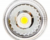 3156 LED Bulb - Single Intensity 1 x 3 Watt High Power LED w/ Reflector Lens: Front View