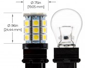 3156 LED Bulb - 27 SMD LED Tower - Wedge Retrofit: Profile View