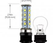 3156 LED Bulb - 28 SMD LED Tower - Wedge Retrofit: Profile View