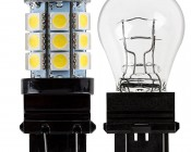 3157 LED Bulb - Dual Function 27 SMD LED Tower - Wedge Retrofit: Profile View