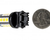 3157 LED Bulb - Dual Function 18 SMD LED Tower - Wedge Retrofit: Back View with Size Comparison