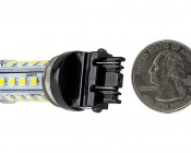 3157 LED Bulb - Dual Function 28 SMD LED Tower - Wedge Retrofit: Profile View: Back View