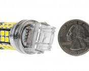 3157 LED Bulb - Dual Function 45 SMD LED Tower - Wedge Retrofit: Back View
