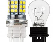 3157 LED Bulb - Dual Function 45 SMD LED Tower - Wedge Retrofit: Profile View