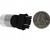 3157 LED Bulb w/ Reflector Lens - Dual Function 1 High Power LED - Wedge Retrofit: Back View