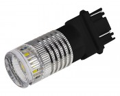 3157 LED Bulb w/ Reflector Lens - Dual Function 1 High Power LED - Wedge Retrofit