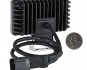 "3.5"" Rectangular 6 Watt LED Mini Auxiliary Flood Light: Back View With Size Comparison"