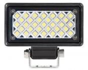 "3.5"" Rectangular 6 Watt LED Mini Auxiliary Flood Light: Front View."