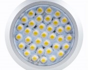 36 High Power SMD LED Puck Light Fixture: Front View