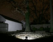 30 Watt High Power LED Flood Light Fixture: Shown Illuminating Backyard (Approx. 30' To Fence).