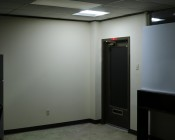 36W Recessed LED Troffer Light w/ Center Basket - 2ft x 2ft: Shown Installed Over Entryway Door.