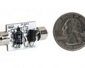 3710 LED Bulb - 6 SMD LED Festoon - 38mm: Back View