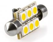 6451 LED Bulb - 6 SMD LED Festoon